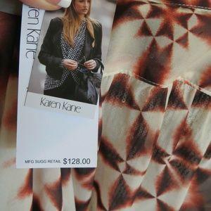KAREN KANE Womens Blouse TUNIC  Tie Dye Shirt NEW